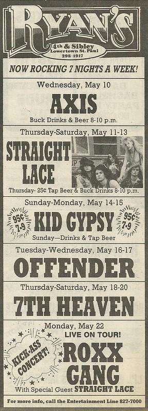 05/22/89 Roxx Gang @ Ryan's, St. Paul, MN