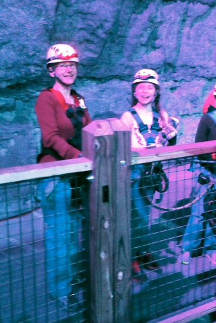 Caitlin and Rebecca Before Climbing