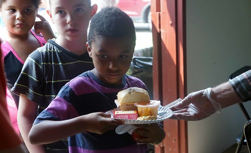Children from USDA Rural Development Multi-Family Housing community, Old Plank Estates in Butler, PA receive free summer meals from their local FNS Summer Food Service Program.