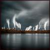 Swirling Smoke Mill Fraser River