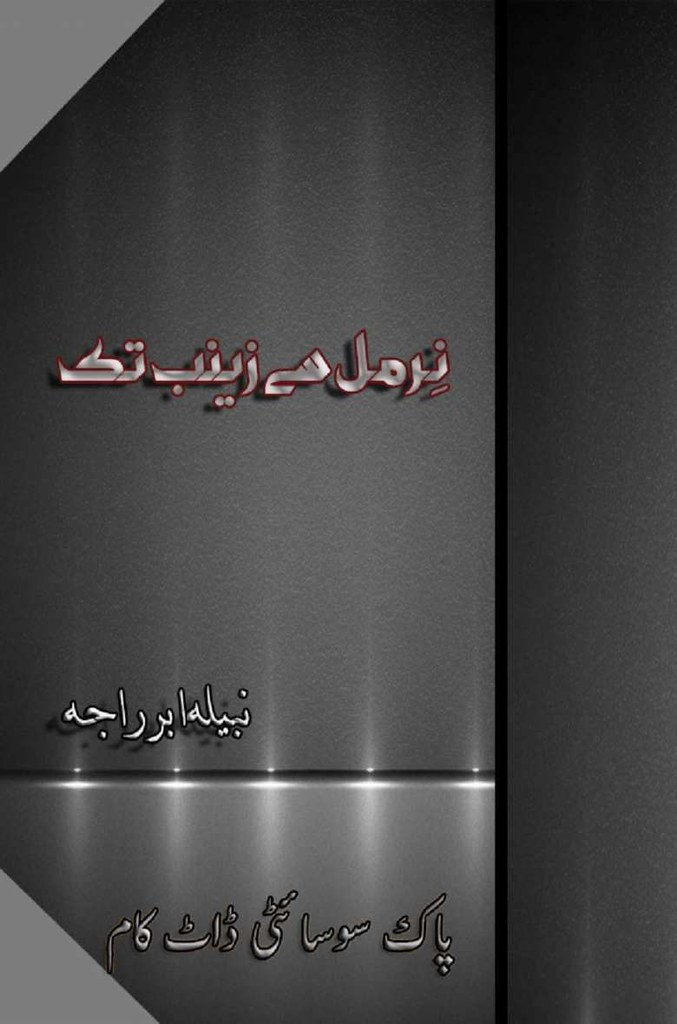 Nirmal Se Zainab Tak is a very well written complex script novel which depicts normal emotions and behaviour of human like love hate greed power and fear, writen by Nabeela Abr Raja , Nabeela Abr Raja is a very famous and popular specialy among female readers