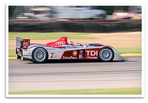 car racecar sportscar spyder audi audisport r10 tdi alms midohiosportscarcourse lexington oh 2008 pan motionblur