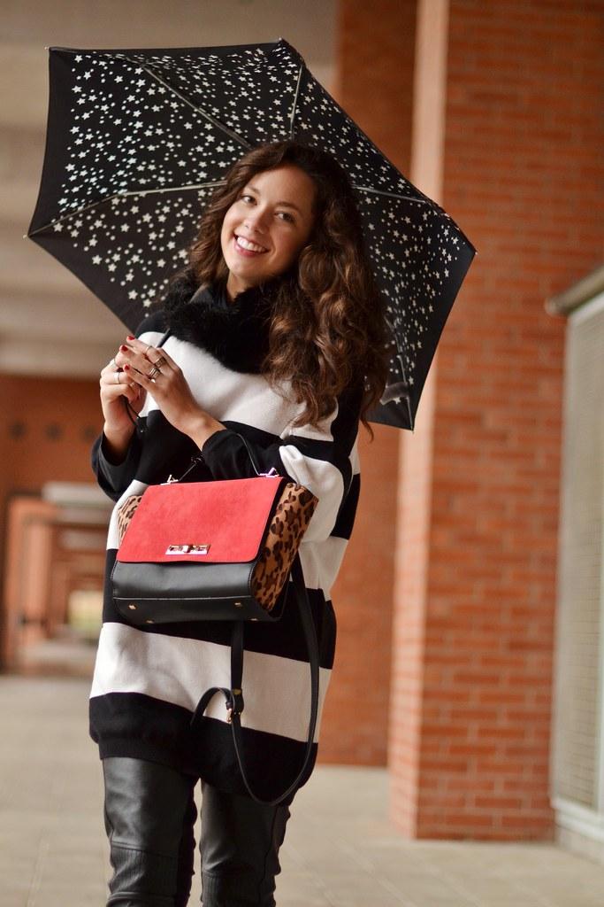 Look para llevar en días de lluvia