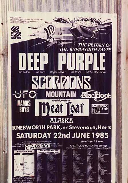 06/22/85 Knebworh Fayre 1985 @ Knebworth Park, Hertfordshire, England
