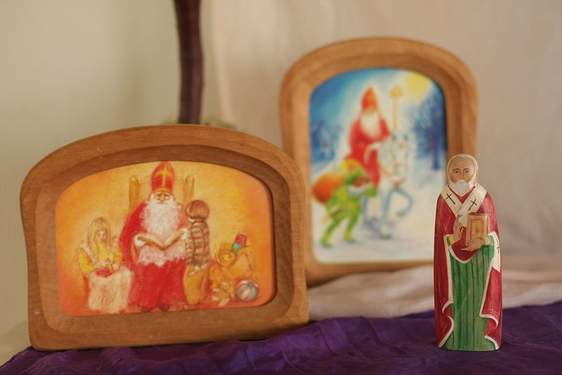 St. Nicholas icon figure on our nature table