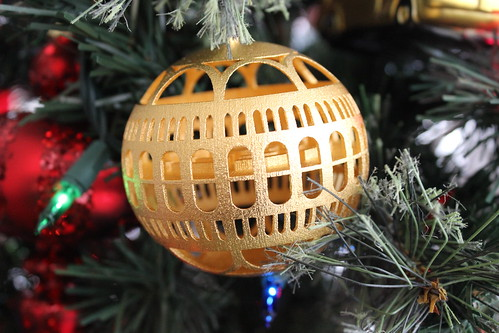 Library of Congress Ornament - Gold Plated Steel