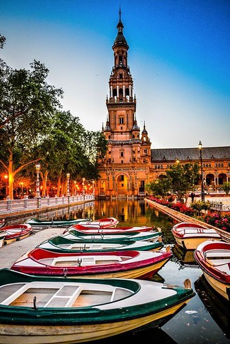 #Travel Plaza de España - Seville #Spain @ Hight...