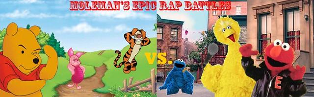 Moleman's Epic Rap Battles #8 Winnie-The-Pooh Vs. Sesame Street