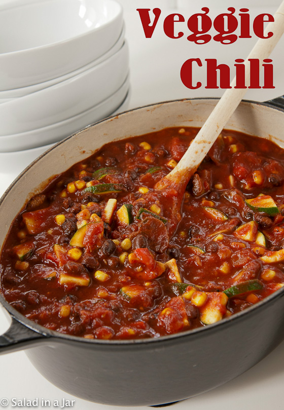 Veggie Chili-Add some cornbread and nobody will miss the meat.