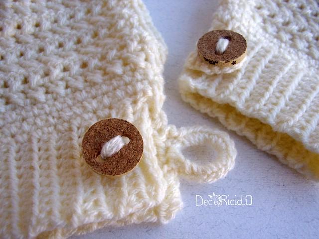 guanti senza dita bianchi, maglie intrecciate 3