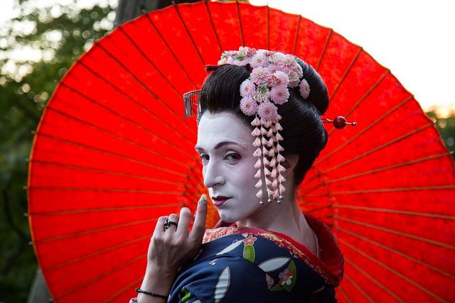 Geisha. Kyoto
