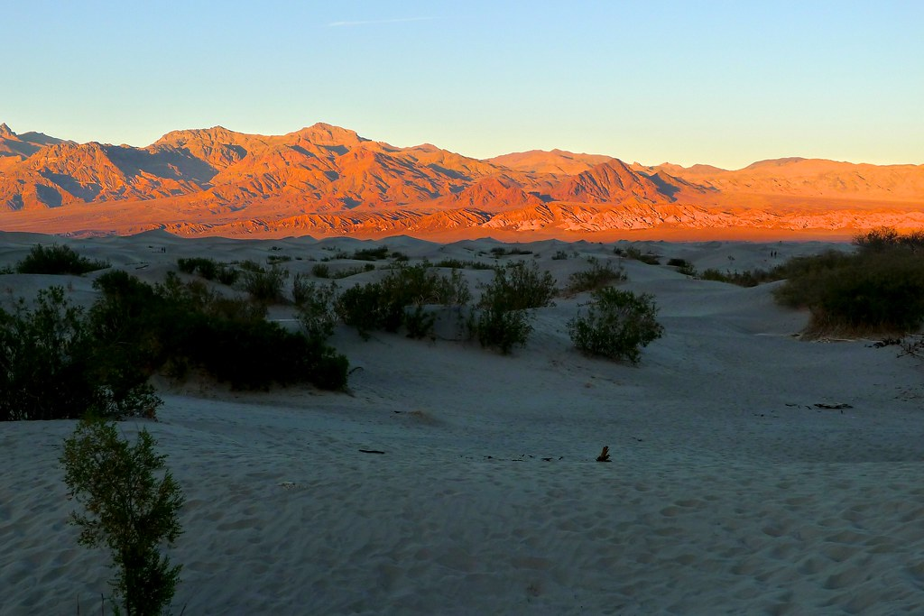 Sunset at Mesquite Dunes