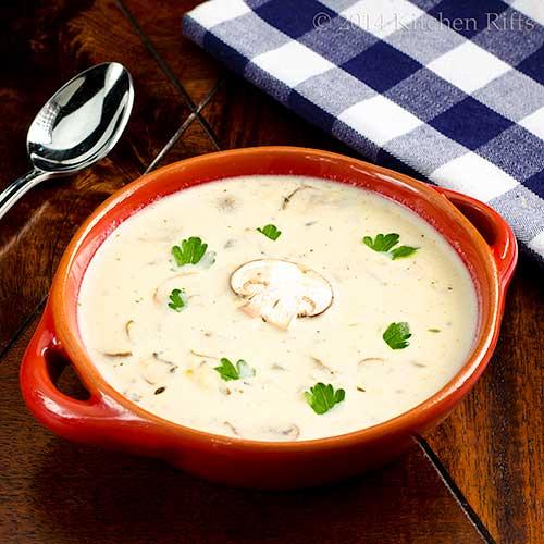 Cream of Mushroom Soup in bowl