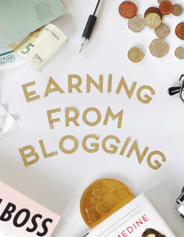 Earning from blogging