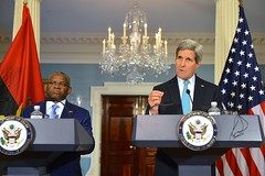 U.S. Secretary of State John Kerry and Angolan Foreign Minister Georges Chikoti address reporters at the U.S. Department of State in Washington, D.C., on December 17, 2014. [State Department photo/ Public Domain]