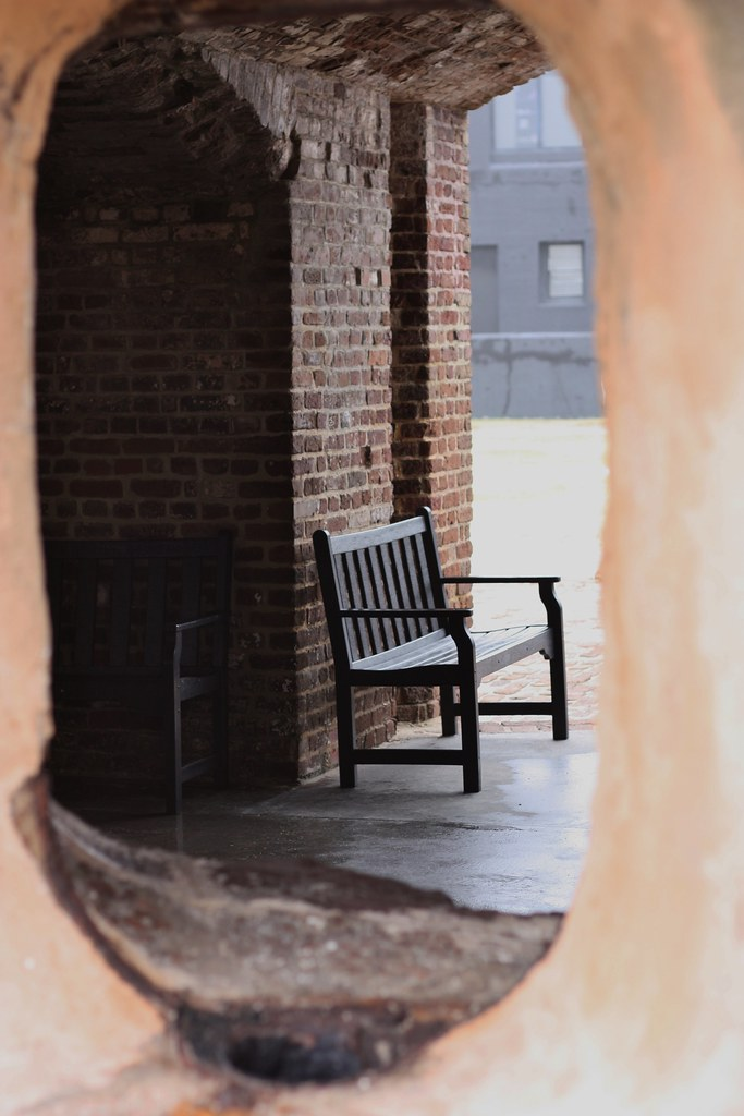 Charleston Bench through the porthole