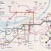 Gothenburg Tramways route map, 1966 - Göteborgs Spårvägens linjekarta 1966 by mikeyashworth