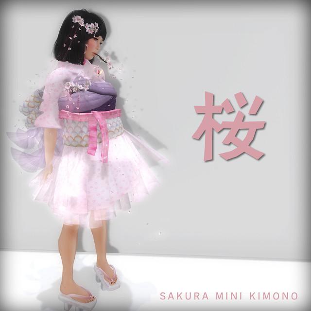 *N*SAKURA MINI KIMONO DRESS