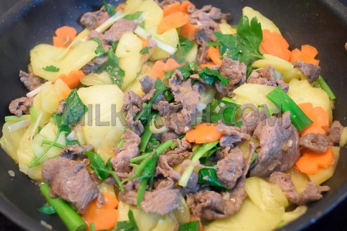 Thơm xào thịt bò - 4