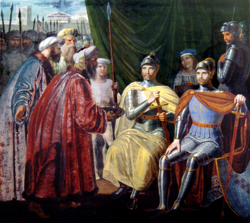 Roger of Sicily Receiving The Keys of the City by Giuseppe Patania