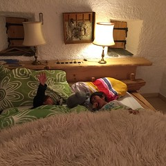 Unter dem Wolf zu schlafen ist lustig... ;)