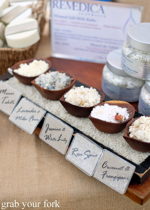 Scented salt scrubs by Remedica at Brewery Yard Markets