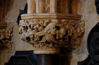 Beverley, Yorkshire, minster, capital with dragon