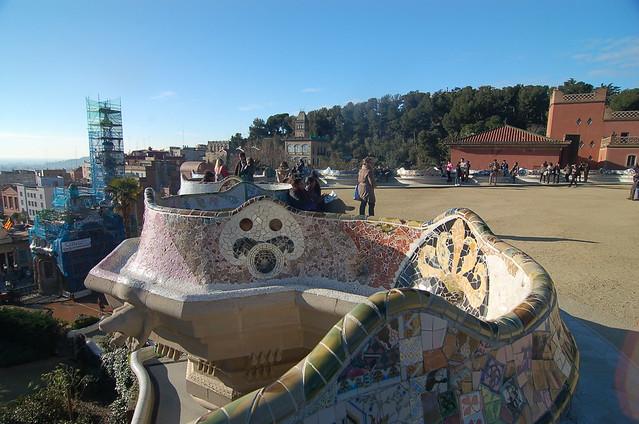 西班牙 巴塞隆納 奎爾公園 Park Guell Barcelona Spain