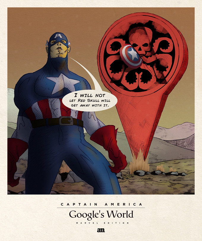 Captain America 'Google's World - Marvel Edition'