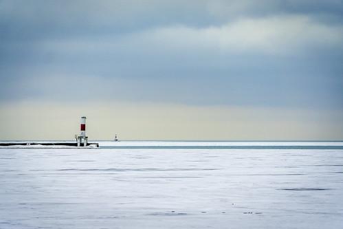 Lake Michigan freezed