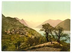 Lake of Lugano, Porlezza in the background, Tessin, Switzerland-LCCN2001703230