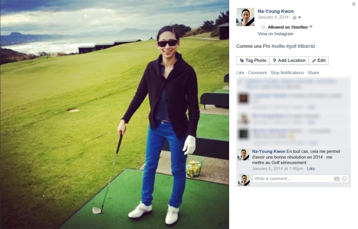 Golf at Ilbarritz, 4 Jan 2014