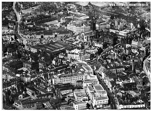Town aerial view pictured in 1935 for George V's Jubilee