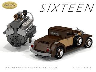 Marmon S I X T E E N - Rumble-Seat Coupe - 1933 + 491 CID V16