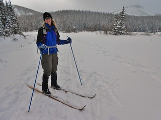 Carrie Skiing on Woodies