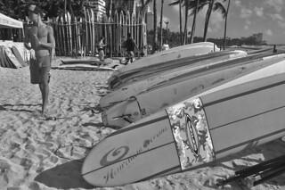 Waikiki Beach - Surf boards