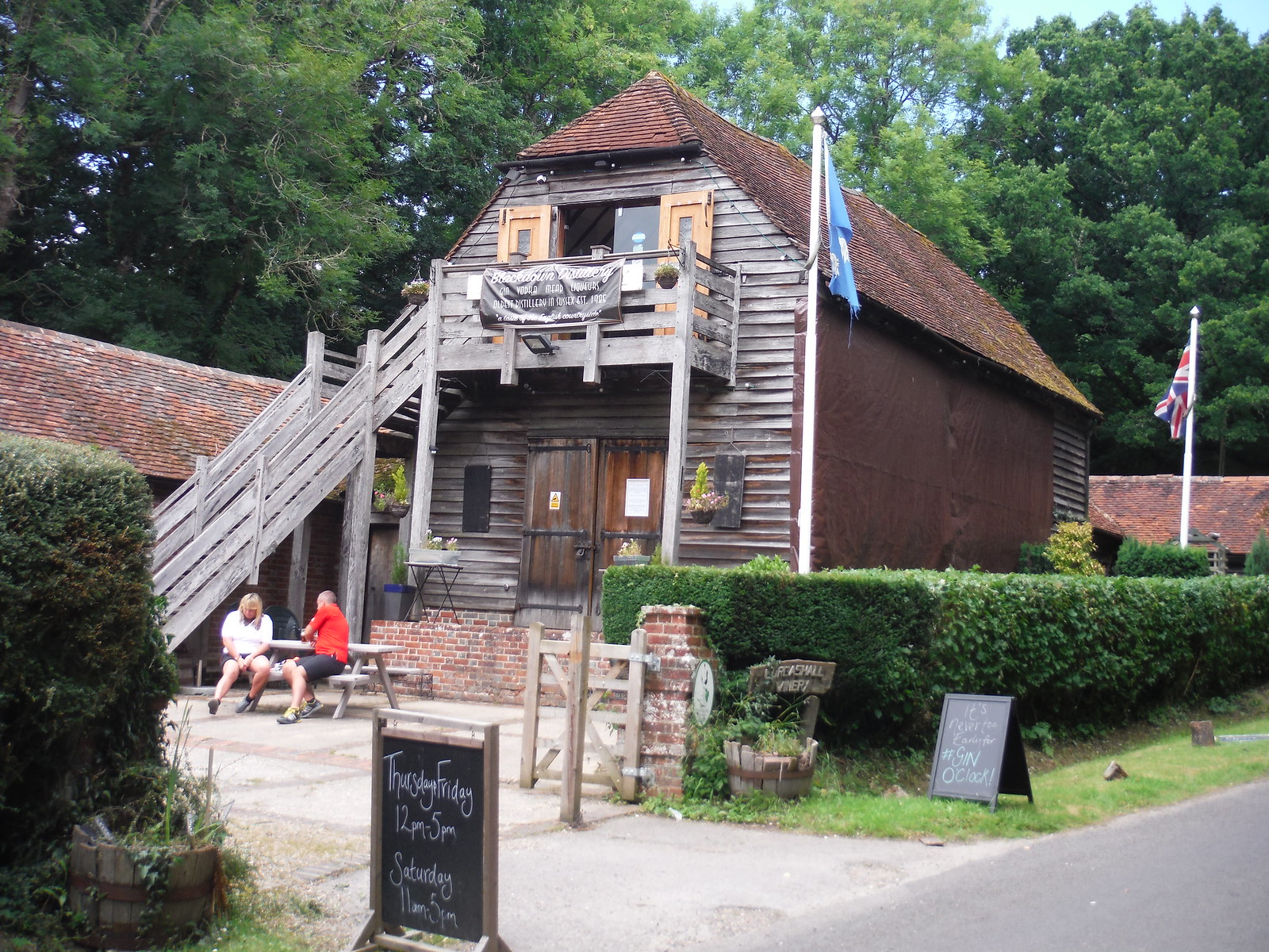 Lurgashall Winery/Blackdown Distillery's shop and café SWC Walk 48 Haslemere to Midhurst (via Lurgashall or Lickfold)