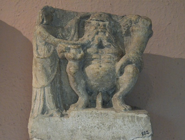 God of fertility holding a cornucopia, 3rd-2nd century BC, from Amantia, Archaeological Museum of Tirana, Albania