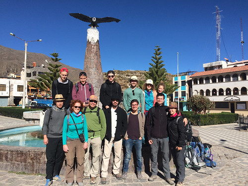 Cabanaconde: notre groupe du trek