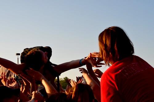 Sum 41 Crowd- Mansfield, MA, Warped Tour 2016.