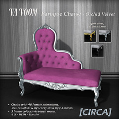 VaVoom - Baroque Chaise - Orchid Velvet
