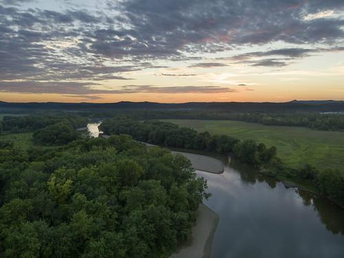sunset waverly ohio ohiofoothills inspire1pro drone ariel river