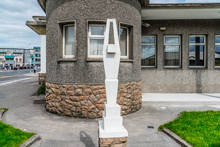 THE WHITE CONCRETE THING OUTSIDE GALWAY FIRE STATION [IS IT A PUBLIC ART INSTALLATION?]-119822