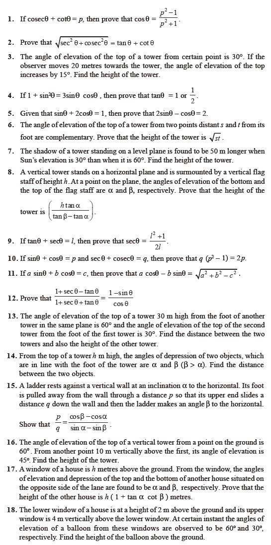 Class 10 Important Questions for Maths – Introduction to