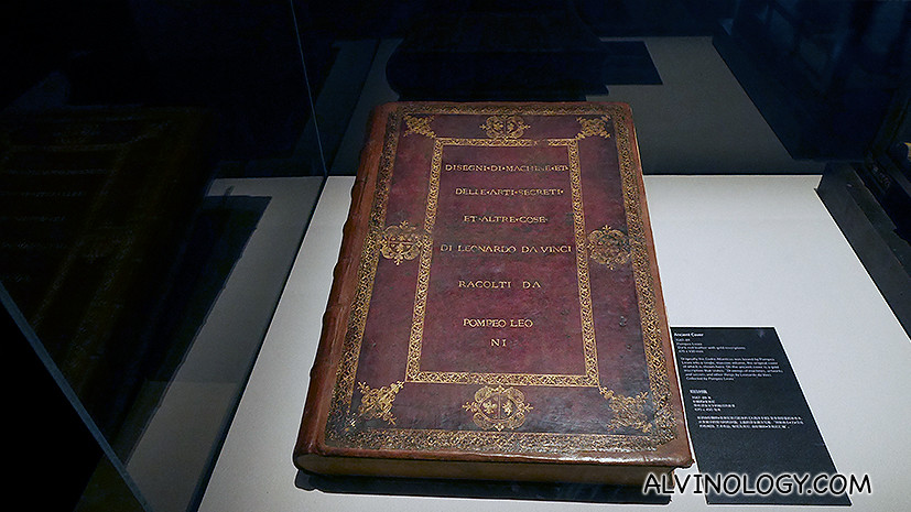 The Codex Atlanticus - a twelve-volume, bound set of drawings and writings by Leonardo da Vinci, the largest such set; its name indicates its atlas-like breadth