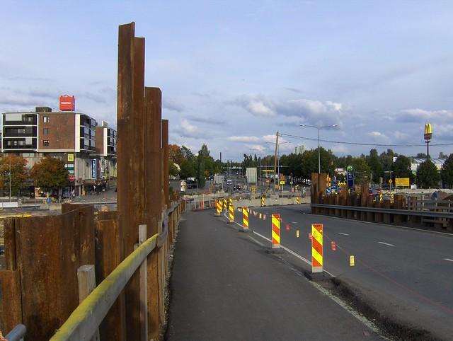 Hämeenlinnan moottoritiekate ja Goodman-kauppakeskus: Työmaatilanne 22.9.2012 - kuva 13