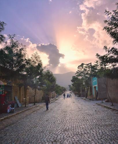 africa street sunset sun stone ray ethiopia cobbles ethnic aigret tigray