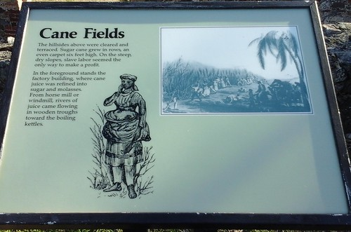 Slave labor used on the sugar plantations in St. John