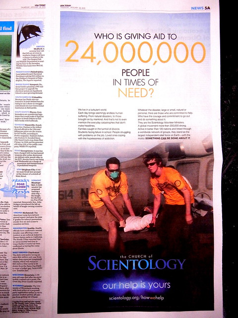 Scientology USA Today Ad 22 January 2015