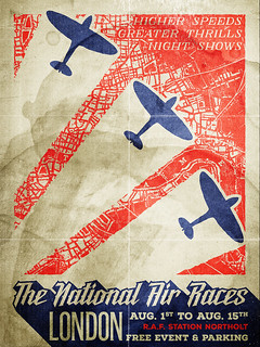 A gritty, vintage airshow poster design tutorial
